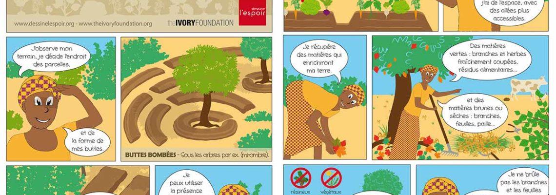 Plaquette présentant les techniques de permaculture